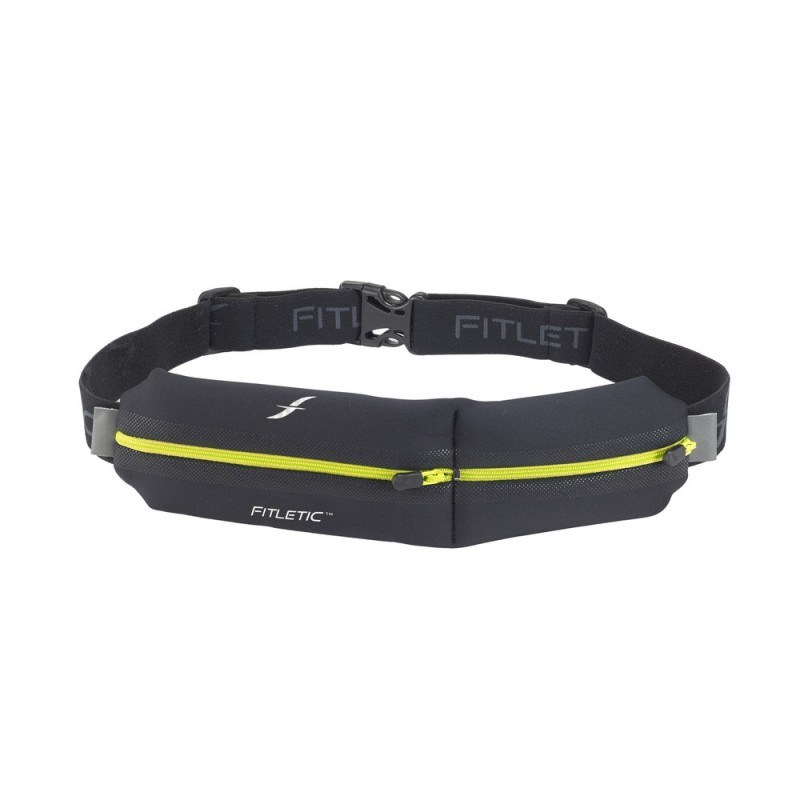 Fitletic Double Pouch Running Belt Black / Yellow