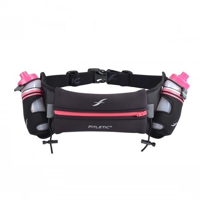 Fitletic drinkgordel zwart/roze