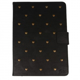 Heart Studs iPad 2 / 3 / 4 Folio Case Black