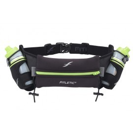 Fitletic Hydration Belt 2 x 250ml drinkgordel zwart/groen