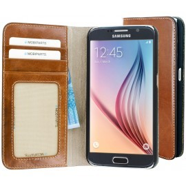 Mobiparts Excellent Wallet Case Galaxy S6 Oaked Cognac