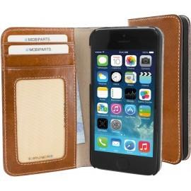 Mobiparts Excellent Wallet Case iPhone 5(S)/SE Oaked Cognac