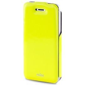 Puro Vertical Flipper Case VIP iPhone 5 / 5S Yellow / Grey