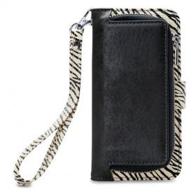 Mobilize 2in1 Gelly Wallet Zipper Case iPhone XR zwart/zebra