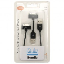 iStubz Bundle 30-Pin dock-connector Black