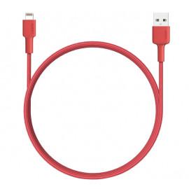 Aukey USB-A naar MFI-lightning kabel 1.2m rood