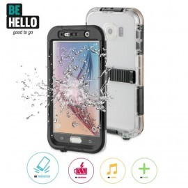 Be Hello Waterproof Case Galaxy S6 zwart