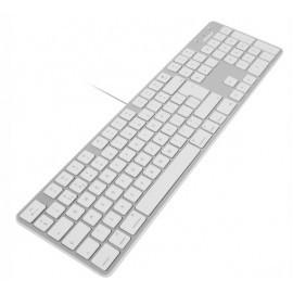 Macally Slim USB Toetsenbord UK wit/aluminium