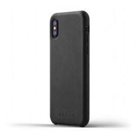Mujjo Leather Case iPhone X / XS zwart