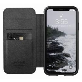 Nomad Rugged Case Folio Leather iPhone X / XS bruin