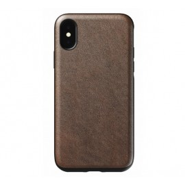Nomad Rugged Case Leather iPhone X / XS donkerbruin