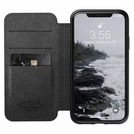 Nomad Rugged Case Folio Leather iPhone XR bruin