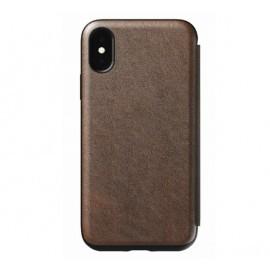 Nomad Rugged Case Tri-Folio iPhone XS Max bruin
