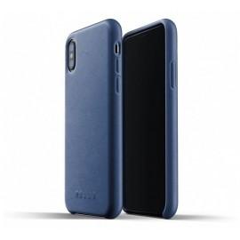 Mujjo Leather Case iPhone X blauw