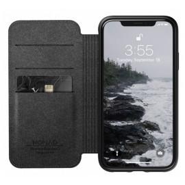 Nomad Rugged Case Folio Leather iPhone XR zwart