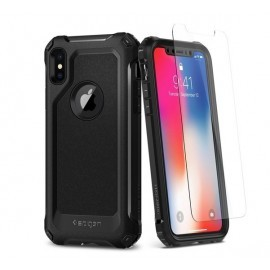 Spigen Pro Guard Cover for iPhone X zwart