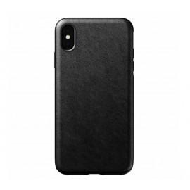Nomad Rugged Case Leather iPhone XS Max zwart