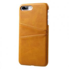 Casecentive Leren Wallet back case iPhone 7 / 8 plus tan