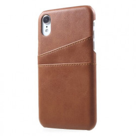 Casecentive Leren Wallet back case iPhone XR bruin