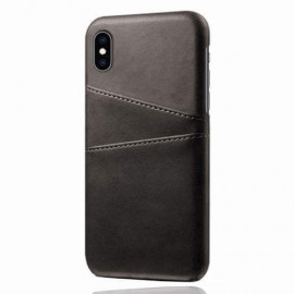 Casecentive Leren Wallet back case iPhone XS Max zwart