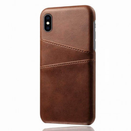 Casecentive Leren Wallet back case iPhone XS Max bruin