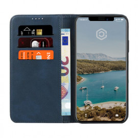 Casecentive Leren Wallet case iPhone 11 blauw