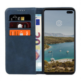 Casecentive Leren Wallet case Samsung Galaxy S10 blauw
