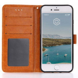 Casecentive Leren Wallet case iPhone 7 / 8 / SE 2020 bruin