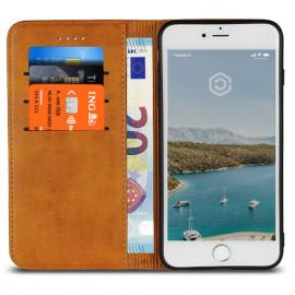 Casecentive Leren Wallet case iPhone 7 / 8 Plus tan