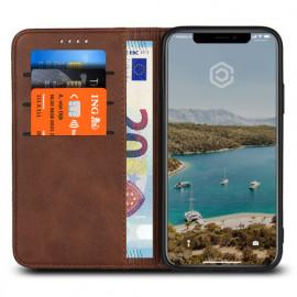 Casecentive Leren Wallet case iPhone XS Max bruin