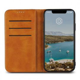 Casecentive Leren Wallet case iPhone XR tan