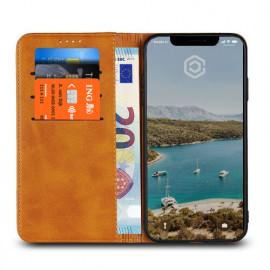 Casecentive Leren Wallet case iPhone XS Max tan