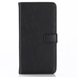 Casecentive Wallet case leer iPhone XR zwart