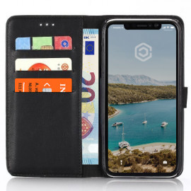 Casecentive Wallet case leer iPhone XR zwart