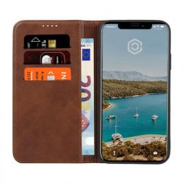 Casecentive Leren Wallet case iPhone 11 bruin