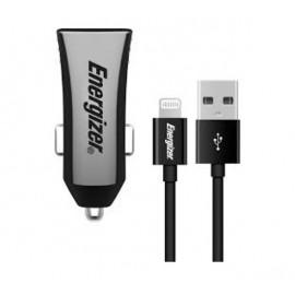 Energizer Dual Car Charger met Lightning kabel 3.4A zwart