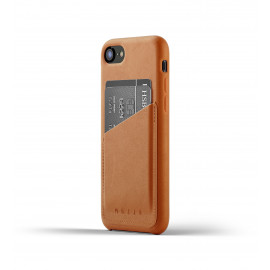 Mujjo Leather Wallet Case iPhone 7 / 8 / SE 2020 bruin