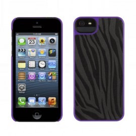 Griffin Moxy Form iPhone 5(S)/SE Zebra zwart/paars