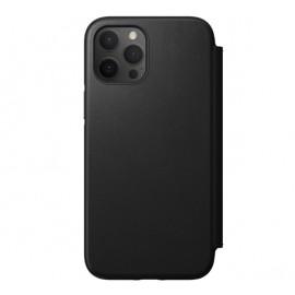 Nomad Rugged Folio Leather Case iPhone 12 Pro Max zwart