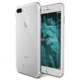 X-Doria 360 voor en achterkant cover met Tempered Glass iPhone 7 / 8 Plus clear