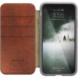 Nomad Clear Folio Case iPhone X / XS bruin