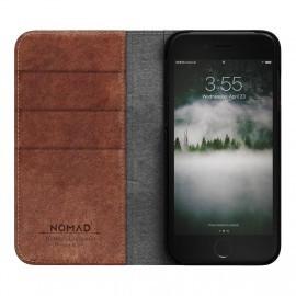 Nomad Leather Folio Case iPhone 7 / 8 bruin
