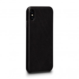 Sena Deen Leatherskin Snap On Case iPhone X / XS zwart