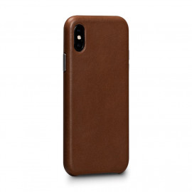 Sena Deen Leatherskin Snap On Case iPhone X / XS bruin