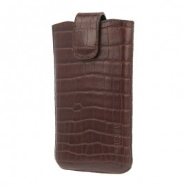 Valenta Pocket Lucca Sleeve iPhone 4 / 4S Croco Bruin