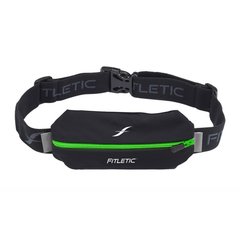 Fitletic Lycra Mini Sport Belt Black / Green