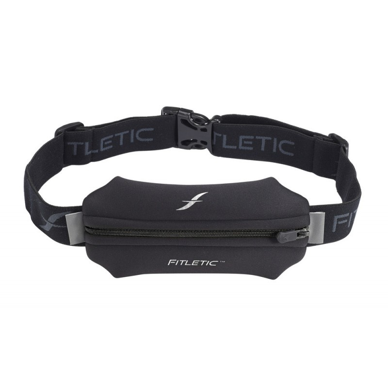 Fitletic Single Pouch Running Belt Black