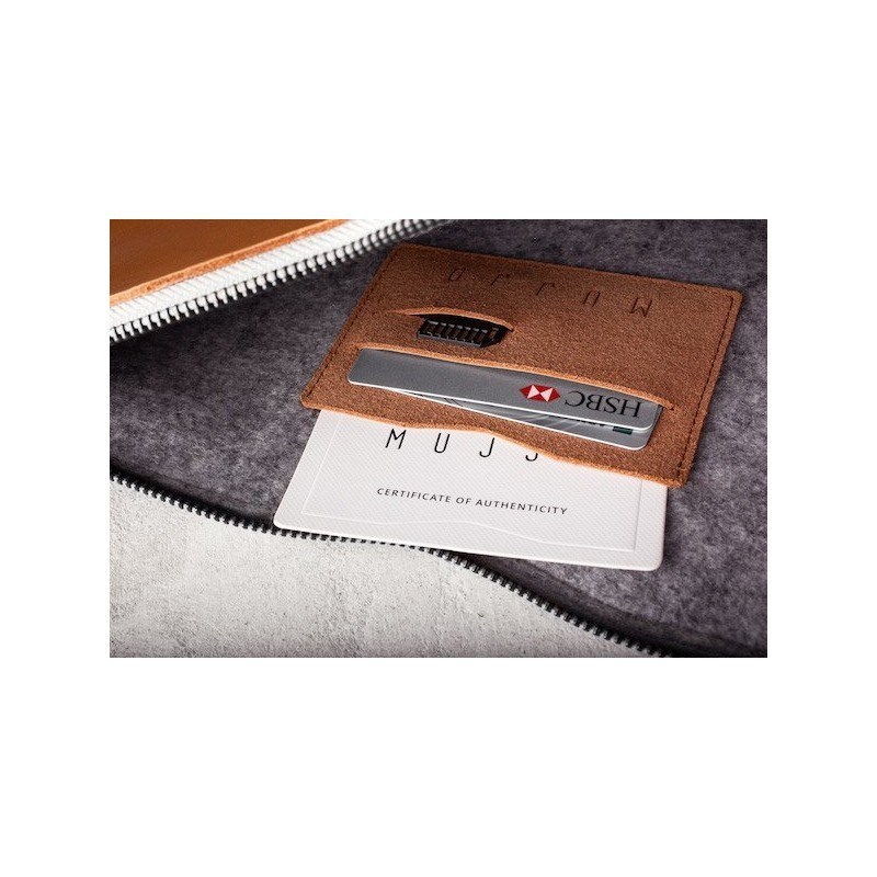 "Mujjo Folio Sleeve MacBook Air/Pro/Pro Retina 13"" bruin"