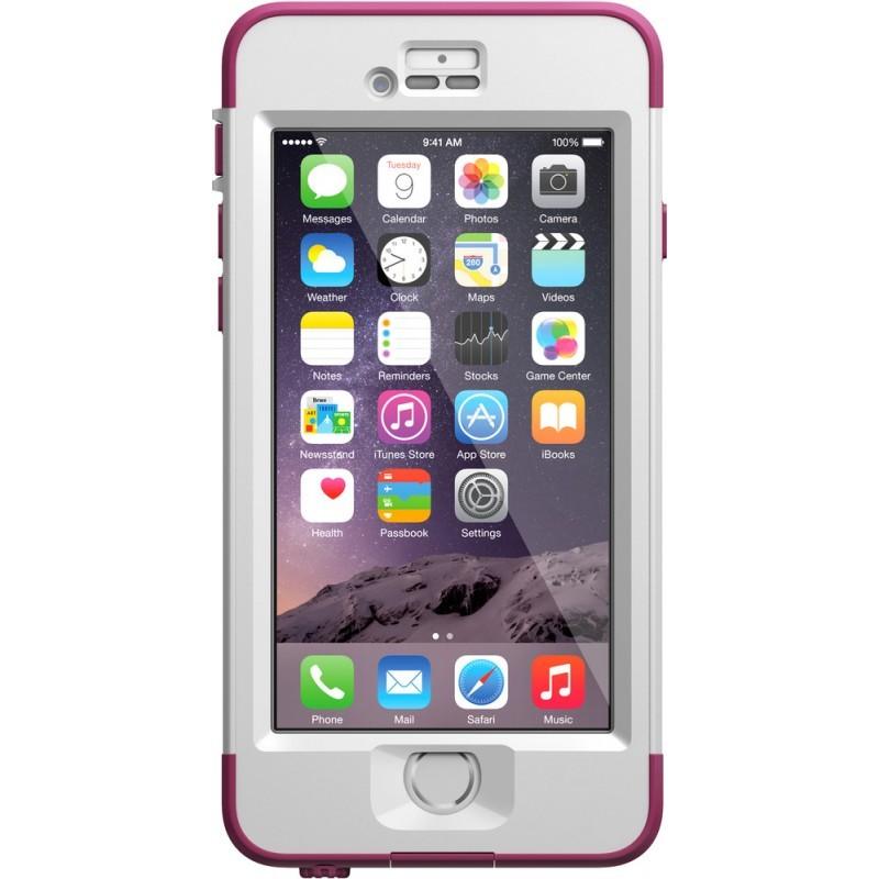 Lifeproof Nüüd iPhone 6 wit/roze