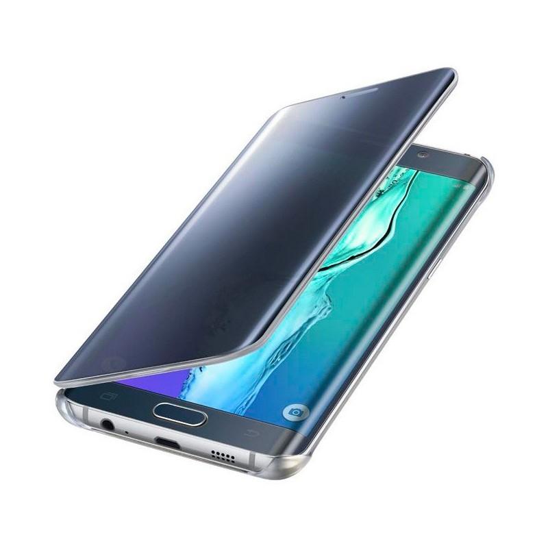 Samsung Clear View Cover Galaxy S6 Edge Plus blauw/zwart